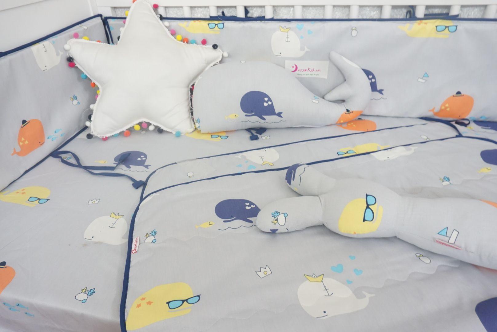 Quây hình cá cho bé ngủ ngon, quây cũi cho bé tại Hà Nội